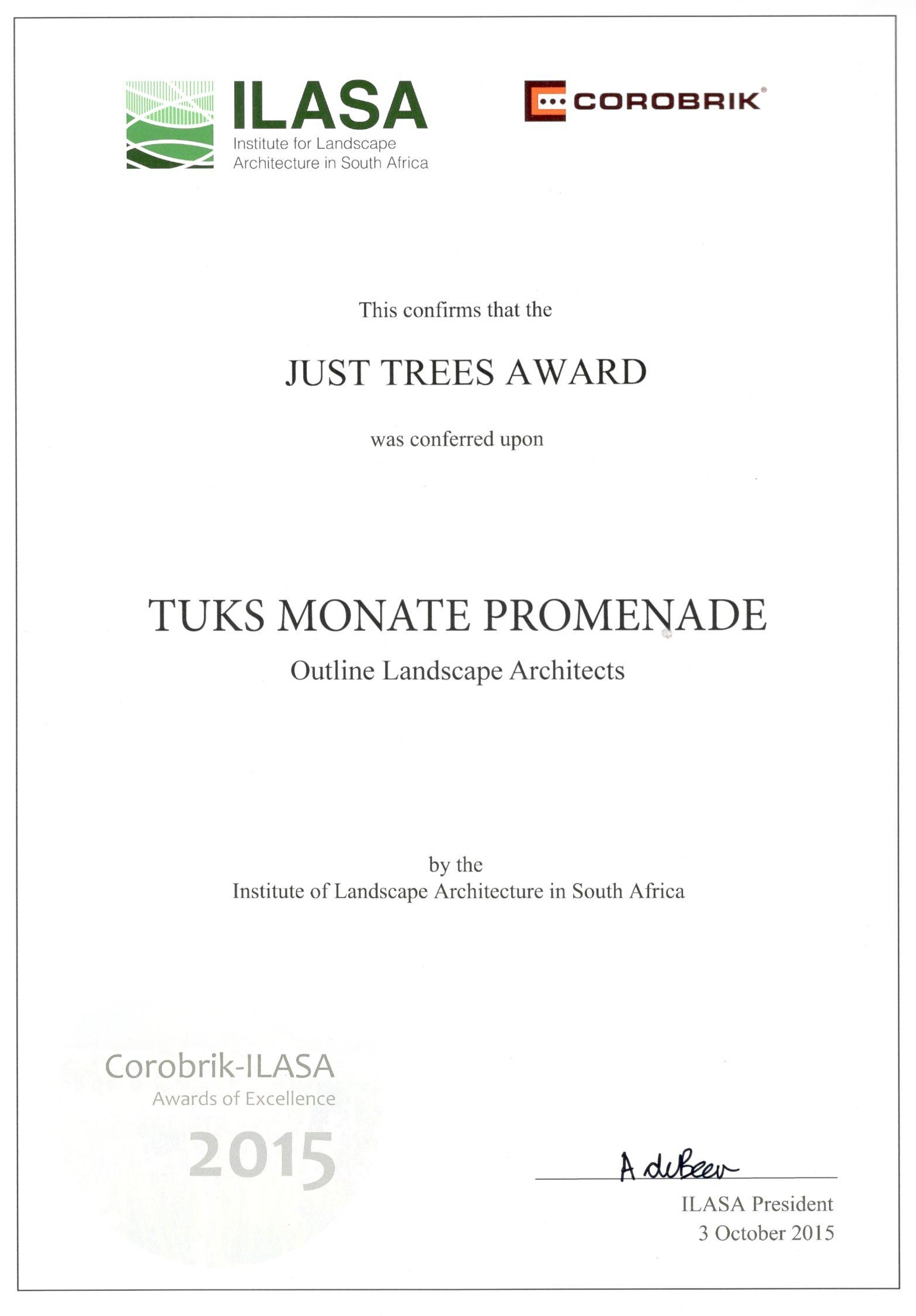 just trees award 2015 u2013 outline landscape architects